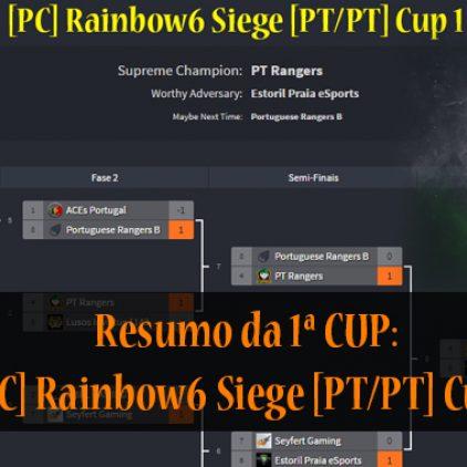 [PC] Rainbow6 Siege [PT/PT] Cup1 – vencedores: PTRangers